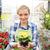 садоводства · счастливым · женщину · цветочный · горшок - Сток-фото © dolgachov