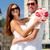 mosolyog · pár · város · szeretet · esküvő · nyár - stock fotó © dolgachov