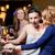 gülen · içme · şampanya · parti - stok fotoğraf © dolgachov