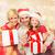 gülen · aile · hediyeler · ev · tatil · nesil - stok fotoğraf © dolgachov