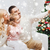 family taking selfie with smartphone at christmas stock photo © dolgachov