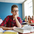 diákok · pletykál · mögött · osztálytárs · hát · iskola - stock fotó © dolgachov