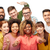 internacional · grupo · pessoas · felizes · diversidade - foto stock © dolgachov