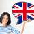 derűs · angol · lány · zászló · aranyos · tart - stock fotó © dolgachov