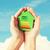 kezek · tart · fehér · papír · ház · energia - stock fotó © dolgachov