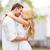 szeretet · pár · csók · új · otthon · fiatal · pér · festmény - stock fotó © dolgachov
