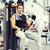smiling man exercising on gym machine stock photo © dolgachov