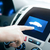male hand pointing finger to car icon on panel stock photo © dolgachov