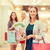 jonge · vrouwen · geld · mall · verkoop - stockfoto © dolgachov
