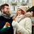 heureux · couple · hiver · vacances · portrait - photo stock © dolgachov