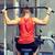 człowiek · mięśni · kabel · maszyny · siłowni · sportu - zdjęcia stock © dolgachov