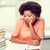 annoiato · donna · studiare · ritratto · isolato · libro - foto d'archivio © dolgachov