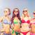 группа · улыбаясь · пляж · Летние · каникулы · праздников - Сток-фото © dolgachov