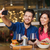 paar · smartphone · restaurant · recreatie · technologie - stockfoto © dolgachov