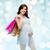 femme · enceinte · jardin · lumineuses - photo stock © dolgachov