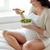 kadın · yeme · salata · gülen · mutlu - stok fotoğraf © dolgachov