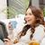 szczęśliwy · komputera · zdjęcie · kobieta - zdjęcia stock © dolgachov