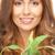 nő · zöld · hajtás · közelkép · kép · egészség - stock fotó © dolgachov