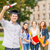 mosolyog · tizenéves · fiú · diploma · oktatás · kampusz · tini - stock fotó © dolgachov