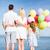 szczęśliwą · rodzinę · kolorowy · balony · lata · wakacje - zdjęcia stock © dolgachov