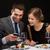 Pareja · vino · tinto · restaurante · vacaciones · sonriendo - foto stock © dolgachov