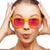 surprised teenage girl in pink sunglasses stock photo © dolgachov
