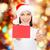 papai · noel · vermelho · papel · mãos · tabela - foto stock © dolgachov