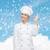 vrouwelijke · chef · tonen · teken · geïsoleerd - stockfoto © dolgachov