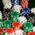 close up of casino chips on green table surface stock photo © dolgachov