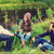 mosolyog · fiatalok · beszél · iszik · sör · kint - stock fotó © dolgachov