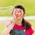 petite · fille · bulles · de · savon · extérieur · été · enfance - photo stock © dolgachov