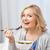 Sałatka · kobieta · żywności · portret - zdjęcia stock © dolgachov