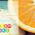 close up of orange with calories and vitamins stock photo © dolgachov