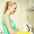 美しい · 若い女性 · キッチン · ホーム · 食品 - ストックフォト © dolgachov