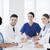 grupo · feliz · médicos · seminário · hospital · profissão - foto stock © dolgachov