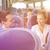 gelukkig · paar · passagiers · reizen · bus · vervoer - stockfoto © dolgachov