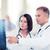 два · врачи · глядя · Xray · фотография · женщину - Сток-фото © dolgachov