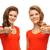 2 · 赤 · ドレス · 画像 · 女性 - ストックフォト © dolgachov