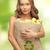papír · újrahasznosítás · nő · izolált · fehér · boldog - stock fotó © dolgachov