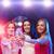 három · fiatal · nők · italok · éjszakai · klub · nők · boldog - stock fotó © dolgachov