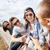 groep · tieners · opknoping · uit · zomer · vakantie - stockfoto © dolgachov