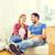 Paar · ruhend · glücklich · zusammen - stock foto © dolgachov