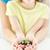 mulher · folha · mãos · natureza - foto stock © dolgachov