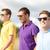smiling friends in sunglasses walking at summer stock photo © dolgachov