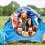 boldog · barátok · sátor · kempingezés · utazás · turizmus - stock fotó © dolgachov