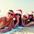 グループ · 友達 · サンタクロース · スマートフォン · 夏休み - ストックフォト © dolgachov