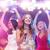 młoda · dziewczyna · śpiewu · karaoke · klub · kobieta · dziewczyna - zdjęcia stock © dolgachov