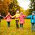 grupo · crianças · correndo · feliz · criança · jardim - foto stock © dolgachov