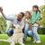 happy family with dog taking selfie by smartphone stock photo © dolgachov