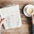 gazete · finansal · haber · kahve · başlık · kâğıt - stok fotoğraf © dolgachov